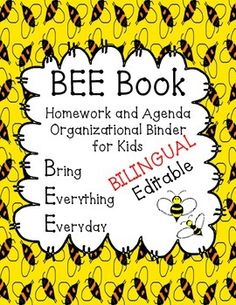 I have used a BEE Book ever since my 1st year of teaching, and I've had great reviews from both parents and administration. It really helps the kids stay organized. Use this to help with your parent-teacher communication by including the kids' agenda in the BEE book.