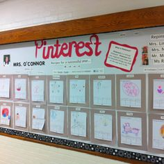 Very Cute Back to School Pinterest Bulletin Board... Kids could create their own interest board and put them in categories such as sports, cooking, travel...etc