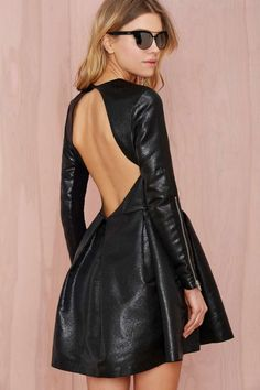 Nasty Gal Really Got Me Dress - Black Lamé - Going Out   Fit-n-Flare   LBD   Dresses
