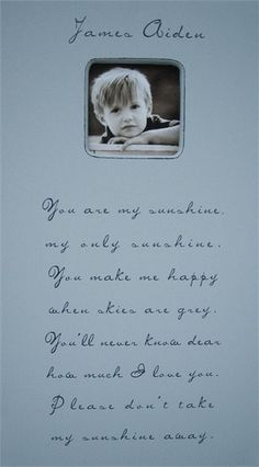 You Are My Sunshine Rectangle Picture Frame