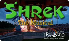 Support the areas talented youth as they present Shrek The Musical! This deal includes 2 General Admission Tickets for this Trollwood Performing Arts School production for only $15 ($30 Value)!  Expires 7/11/13 at midnight!