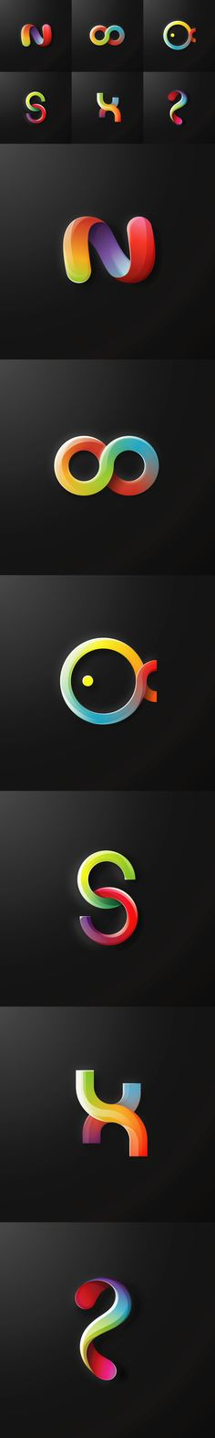 """Collection of 6 free gradient logo that made with a high level of graphic standards. File size is 300 MB in .ai cs6 vector format. So enjoy guys free stuff and don't forget to appreciate and share this piece of art with other.Instructions how to downloa…  Check out my new giveaway @Behance: """"Free logo pack"""" http://be.net/gallery/47337183/Free-logo-pack  #giveaway #free #logo #design #art #vector #illustration #logos #illustrator #download #behance #freebee"""