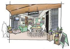 Noshers Deli - Concept sketch