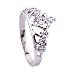 A promise ring for your daughter reminding her she is a Princess, the daughter of the Most High King Wholesale Sterling Silver 925 CZ Purity Crown Queen Princess Ring GNJ0047 | eBay $6.56