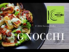 Gnocchi with Broccoli, Mushrooms and Gorgonzola Sauce | stevescooking - YouTube