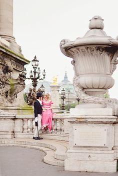 """Romantic photo session in Paris, Tour Eiffel. The """"Belle Époque"""" in Paris."""