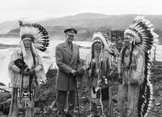 Wyam (Warm Springs) - one of the Confederated Tribes of the Warm Springs Indian Reservation at Celilo Falls, 1945