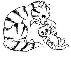 Cute Dog And Cats Coloring Pages Cat Printable 1