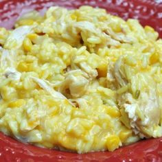 Slow cooker cheesy chicken and rice.