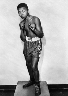 Muhammad Ali, then Cassius Clay at the age of 12 in 1954