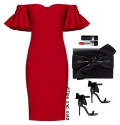 """""""Black and Red"""" by mamzelleyaa-05 ❤ liked on Polyvore featuring Badgley Mischka, Miss Selfridge, Christian Dior and Witchery"""