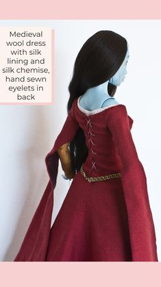 Yalki Palki Bespoke clothing for Ball Jointed Dolls Open for commissions Bespoke Clothing, Silk Chemise, Medieval Dress, Wool Dress, Ball Jointed Dolls, Hand Sewing, Clothes, Dresses, Fashion
