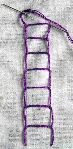 open chain stitch | Sarah's Hand Embroidery Tutorials