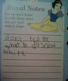 The kid who doesn't have time for your bullshit, Snow White. | 18 Kids Who Are Way Too Sassy For Their Own Good