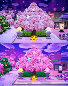 Cherry Blossom Tree, Blossom Trees, Animal Crossing Cafe, Future Islands, Happy Home Designer, Path Design, Motifs Animal, Drawing Base, Treasure Island