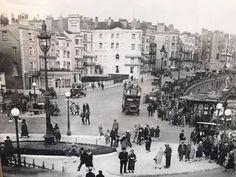 The roundabout outside the Brighton Aquarium  1920s