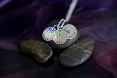 Children's Name Necklace  Handstamped  by DistinctlyIvy