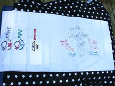 Personalized embroidered character autograph pillowcase for your Disney cruise $14.00