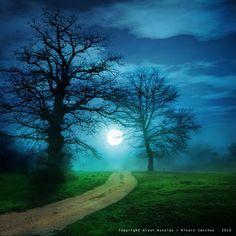 *~ The way and the moon…. by: alvar astúlez ~*