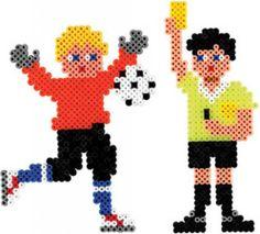 Football Hama perler beads
