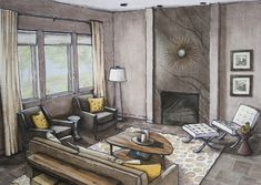 Here is wonderful floor plan rendering by Kristen Hansen. She is a freelance architectural illustrator who specializes in line drawings and hand renderings. Check out her website, Krishansendesign.…
