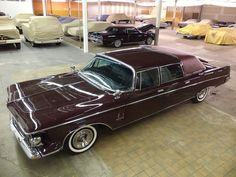 1963 Chrysler Imperial Ghia Crown Limo / only one produced in Dark Red paint.