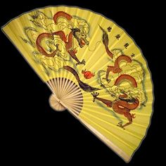 Wall Fan 60 Inches Double Dueling Dragons  Price: $24.99 Ninja Gear, Large Fan, Wall Fans, Hand Fan, Dragons, Hand Painted, Kites