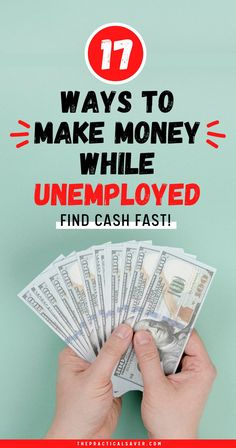 Finding a job after you've been laid off is tough, but there are ways on how to make money while unemployed. | The Practical Saver | Here are 17 Ways to Make Money while Unemployed that you can do temporarily from home without spending money or too much time. These simple ideas can make you money online for free and make extra money fast to help support your family financially during a financial emergency. #makemoney #personalfinance #extracash #workfromhome #unemployment Hobbies That Make Money, Make Easy Money, Earn More Money, Earn Money From Home, Money Fast, Make Money Blogging, Money Saving Tips, Way To Make Money, Make Money Online