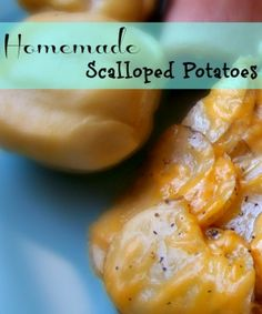 Homemade Scalloped Potatoes Recipe - I made these last weekend and they were a big hit! Homemade Scalloped Potatoes, Scalloped Potato Recipes, Great Recipes, Favorite Recipes, Side Dish Recipes, Side Dishes, Potato Dishes, I Love Food, Yummy Food