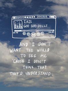 Imagem de iris music and goo goo dolls Songs Lyrics Tumblr, Song Lyric Quotes, Music Lyrics, Music Quotes, Coldplay Lyrics, Sad Song Lyrics, Iris Goo Goo Dolls, Saddest Songs, Backgrounds