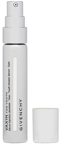 Vax'In For Youth-Youth Infusion Serum-Eyes from Givenchy R1010,00 Prevents puffiness, removes dark circles and prevents wrinkles from taking place in the eye area. Contains a unique complex, which strengthens the defense and repair mechanisms of the skin.