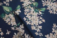 Archive Lilac Navy - Liberty Of London - Liberty Of London - Tessuti Fabrics - Online Fabric Store - Cotton, Linen, Silk, Bridal & more