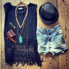STYLE OF THE DAY:: @nightcapclothing black crocheted top, favorite