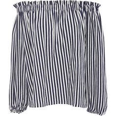 MDS Stripes Lauren Ruffled Peasant Top (4.210.410 VND) ❤ liked on Polyvore featuring tops, blouses, shirts, stripe, long sleeve blouse, off the shoulder shirts, off shoulder peasant blouse, long-sleeve shirt and long sleeve shirts