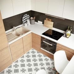 Shop for SomerTile Tri Blossom White with Grey Porcelain Mosaic Floor and Wall Tile sqft. Get free delivery On EVERYTHING* Overstock - Your Online Home Improvement Shop! Kitchen Tiles, Kitchen Colors, Kitchen Flooring, New Kitchen, Kitchen Design, Decor Interior Design, Interior Decorating, Decoracion Vintage Chic, Online Tile Store