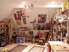 Jennifer Beinhacker's studio. Now that's my kinda place!