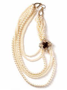 gala brooch strand necklace