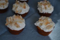 Coconut Gluten-Free Cupcakes + Coconut Oil Frosting & Coconut Chips