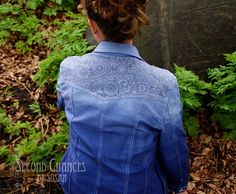 I may not have the urge to tattoo my body, but I did get the urge to tattoo a jacket! I love the intricate design of some of the hen...