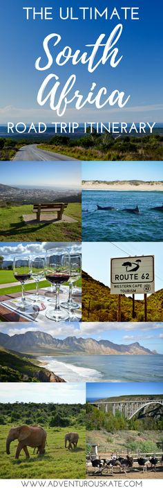 The ultimate guide to planning the perfect South Africa road trip itinerary, including route options, bucket list worthy destinations from Cape Town to the Garden Route to the Eastern Cape, and all the best things to do along the way. Spot whales in Hermanus, ride ostriches in Oudtshoorn, take a surfing lesson in Jeffrey's Bay, go on a safari in Addo Elephant National Park and relax in Cintsa. Adventure travel in South Africa. | Adventurous Kate: Solo Female Travel Blog#SouthAfrica