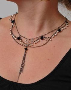 Audrey Hepburn Style Necklace @Shannel Reed. bridesmaid gift