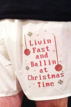 How funny, think that's from a80's Christmas Rap song....lmao Etsy $5.00