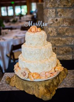 Country Wedding Cake and Topper