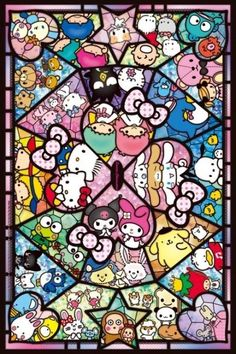 Quintessential Japanese cuteness: the Hello Kitty character from Sanrio in jigsaw puzzles at Imaginatorium Shop Sanrio Wallpaper, Hello Kitty Wallpaper, Iphone Wallpaper, Hello Kitty Pictures, Kitty Images, Little Twin Stars, Hello Kitty Imagenes, Hello Sanrio, Hello Kitty Art