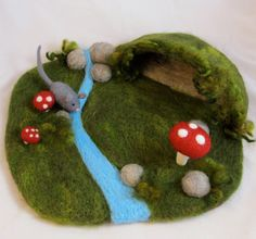 Hey, I found this really awesome Etsy listing at http://www.etsy.com/listing/115969850/needle-felted-play-mat-mouses-cave