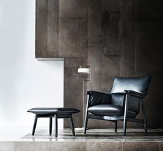 The comfortable, laid-back chair features soft upholstery atop a wooden frame, which perfectly embodies the Danish brand while broadening the Embrace Series with a new relaxed mate. To go with the lounge chair, they're adding a matching footstool for additional comfort.