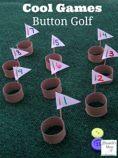 Cool Games:  Button Golf.  Count buttons and practice 1-to-1 correspondence during centers!