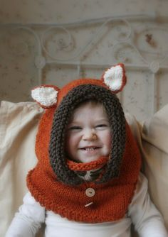Ravelry  Fox hood cowl Rene pattern by Muki Crafts Crochet For Boys a652f32c4ef7