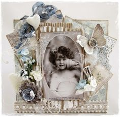 Card created by LLC DT Member Tracy Payne using papers from Pion Design's Vintage Garden collection and an image from Crafts & Me.