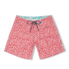 These shorts are made from recycled plastic bottles. The use of recycled materials reduces the need for virgin resources to be consumed and saves useful items from ending up in landfill.